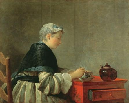 Woman Taking Tea by Jean-Baptiste-Siméon Chardin.