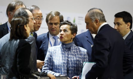 Christiana Figueres at the Paris climate change summit in December
