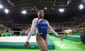 Simone Biles wins gold for USA.
