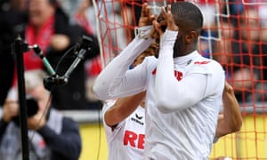 Anthony Modeste reacts after scoring against Ingolstadt.