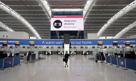 Heathrow airport, London, May 2020
