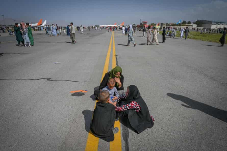 The scene at Hamid Karzai airport in August.