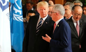 Donald Trump with Malcolm Turnbull