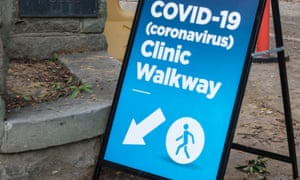 A sign to the Coronavirus Clinic at Royal Prince Alfred, RPA Camperdown, Sydney. 10 March 2020.