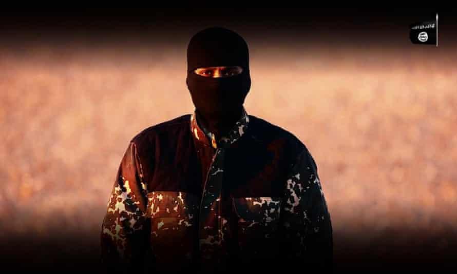 Masked Isis jihadi