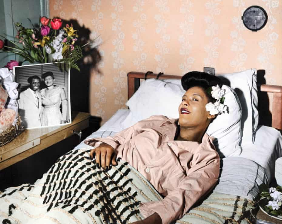 Combative and vulnerable … Billie Holiday in the 40s.
