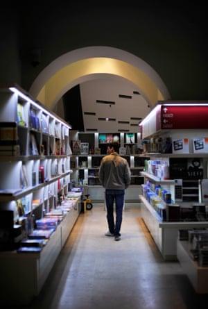 The design bookstore Bookabar inside the Palazzo delle Esposizioni in Rome, Italy.