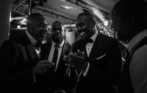 Lenny Henry, Javone Prince, Idris Elba, and Adrian Lester