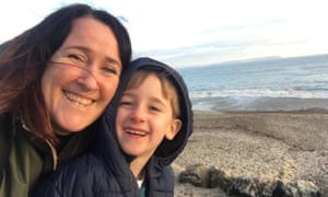 Jacqui Dicker, with her son Daniel, says tickets should be the same price for all families, whatever their shape.