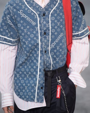 An outfit from the Louis Vuitton menswear fall/winter 2017-18 collection in Paris