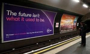 A British Telecom tube advertisement in 2019
