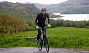 Kieran Meeke cycling the Ring of the Reeks in Kerry.