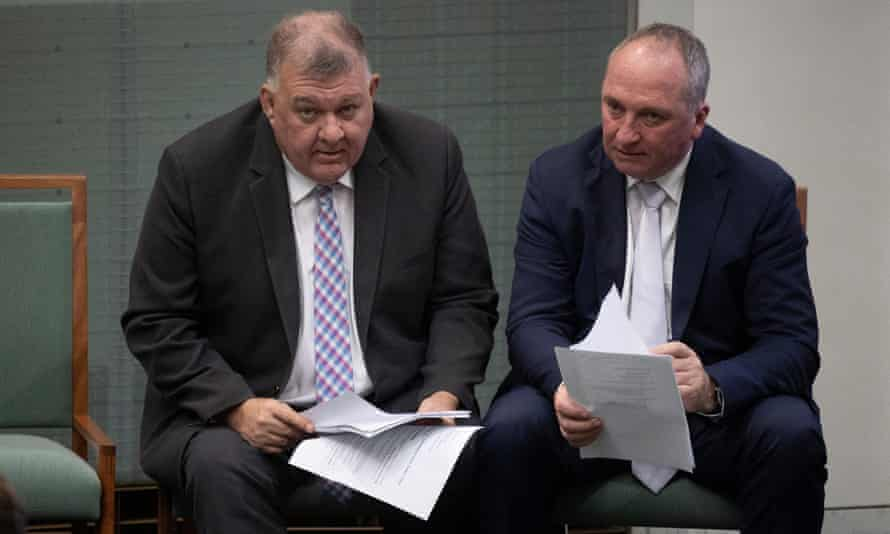 The member for Hughes Craig Kelly and the member for New England Barnaby Joyce