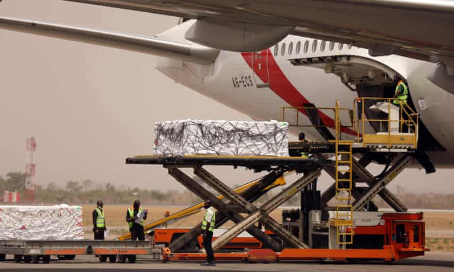 The first Oxford/AstraZeneca vaccines arrive in Abuja, Nigeria, from the Covax facility on Tuesday.