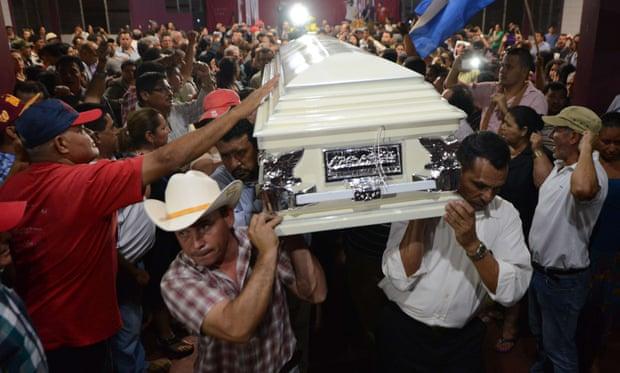 Berta Caceres coffin