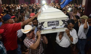 Berta Caceres coffin