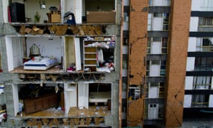 A multi-storey building damaged during the earthquake on September 19 in Mexico City.