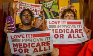 In the wake of the health care bill collapse, constituents from across the country flooded Capitol Hill to protest Republican senators who have not spoken up against ACA repeal and demand universal, affordable, quality healthcare for all.