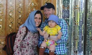 Nazanin Zaghari-Ratcliffe with husband Richard and their daughter Gabriella