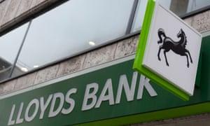 A sign outside a Lloyds bank branch