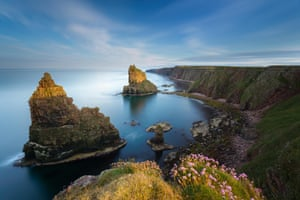 The impressive Duncansby Stacks, off the northern tip of Scotland's coast