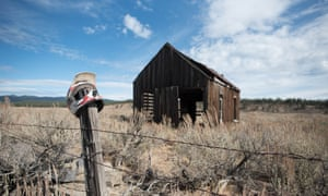 Rural decline: the road between Canyon City and Baker City is littered with ghost towns.