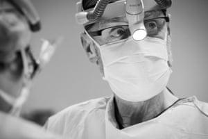 Liver transplant surgeon Prof Bob Jones, the head of the hospital's liver transplant unit