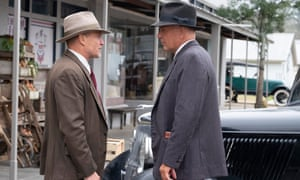 Woody Harrelson and Kevin Costner in The Highwaymen