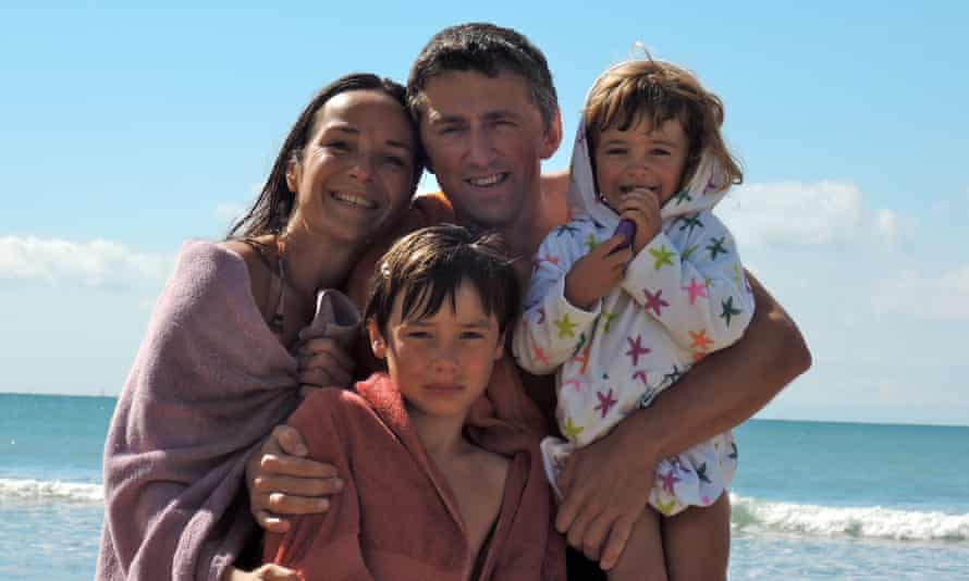 The Leemans family. From left Francoise Duperoux, Professor Dimitri Leemans with children Margaux and Peter.
