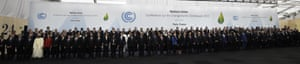 Picture perfect: more than 150 world leaders pose for a 'Paris 2015 family photo' in Le Bourget, Paris