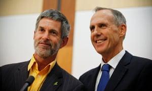 Bob Brown (right) and his partner Paul Thomas