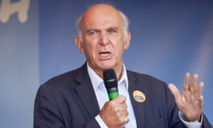Vince Cable at the People's Vote march, London on 20 October 2018