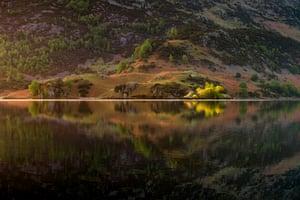 Ullswater lake in the Lake District, Cumbria, England