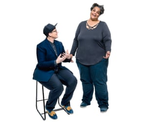 Hannah Gadsby (on left) and Roxane Gay