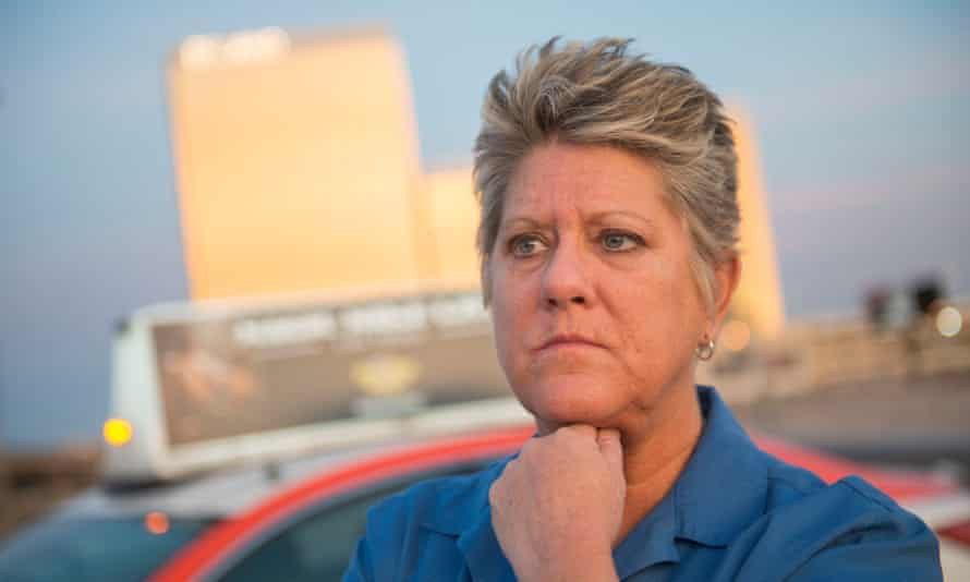 Cori Langdon, a Las Vegas taxi driver who helped save people during the massacre, faced online abuse from conspiracy theorists.