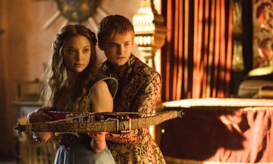 Natalie Dormer as Margaery Tyrell, with Jack Gleeson as Joffrey Baratheon in Game of Thrones.