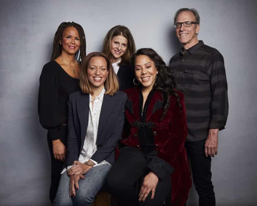 Sil Lai Abrams, Amy Ziering, Kirby Dick, Drew Dixon, Sheri Hines at Sundance.