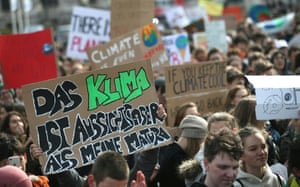 Young people take part in the worldwide climate strike in Vienna, Austria