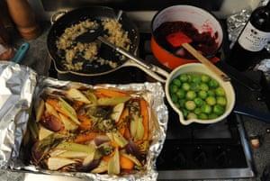 Christmas dinner in the making