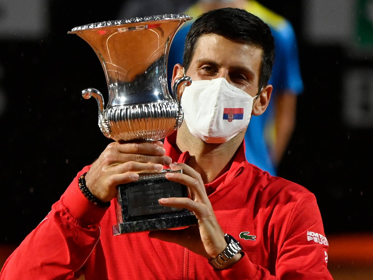 Novak Djokovic Takes Rome Title But All Eyes On French Open Covid Tests Sport The Guardian