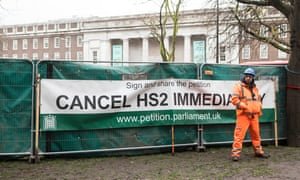The message from anti-HS2 campaigners at Euston station