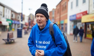 Naloxone champions out on the streets of Redcar. Photograph: Christopher Thomond for the Guardian