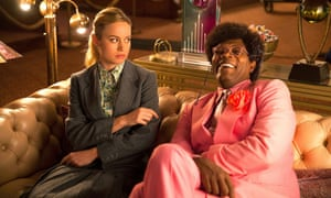 'The key messaging has been sold in other better films many times before and Larson's film has little more to add ' ... Brie Larson and Samuel L Jackson in Unicorn Store.