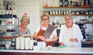 Holne community shop and tea room volunteers Gilly Simpson, Philippa Burrell and Maggie Montgomery.