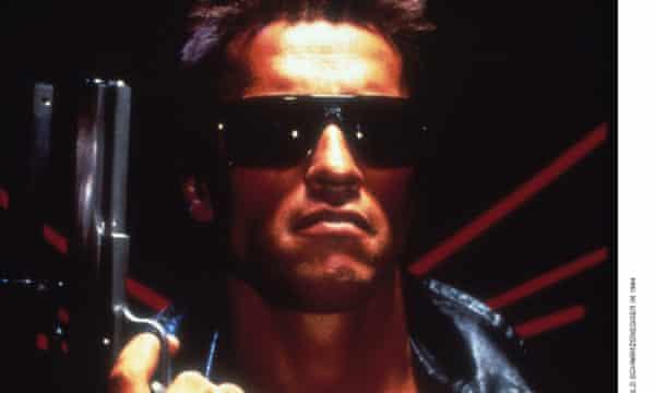 Arnold Schwarzenegger as the Terminator, 1984