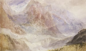 Detail from JMW Turner's painting Monte Rosa (or the Mythen, near Schwytz), about 1836.
