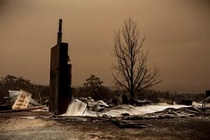 Fire damage outside Sarsfield, East Gippsland