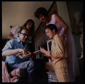 Eric at home with his family