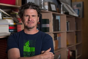 Dave Eggers photographed in the McSweeney's office in San Francisco.