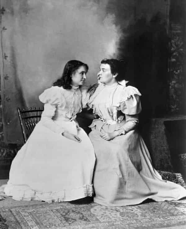 Portrait of Keller and her teacher Anne Sullivan, 1897.